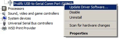 Usb to serial - Prolific usb to serial comm port ...
