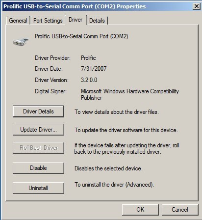 Usb to serial - Prolific usb to serial comm port windows 7 ...